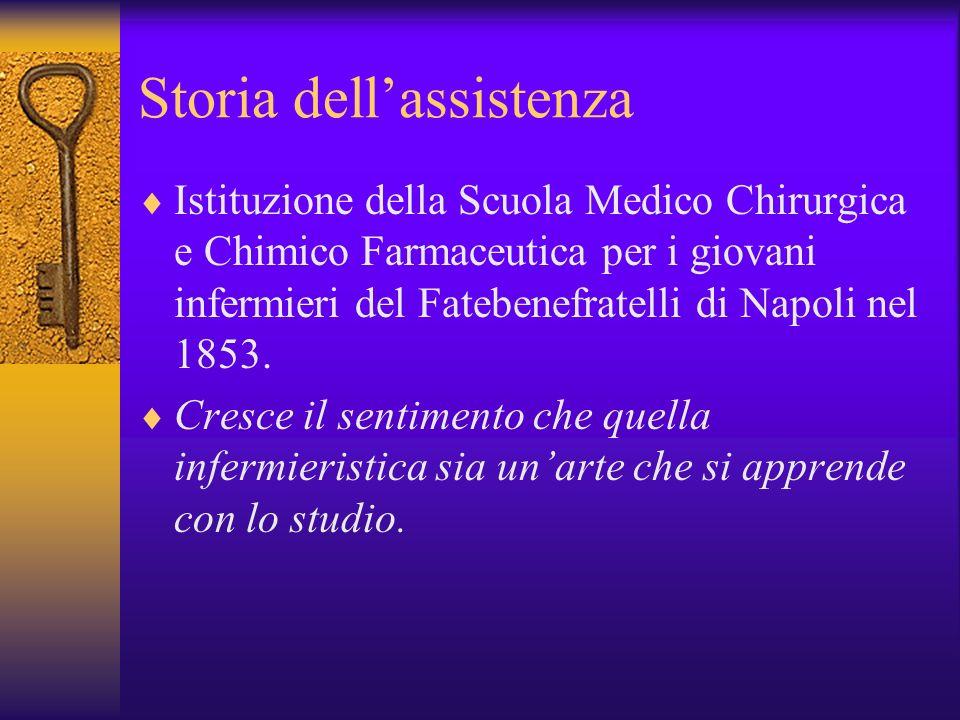 Storia dellassistenza Istituzione della Scuola Medico Chirurgica e Chimico Farmaceutica per i giovani infermieri del Fatebenefratelli di Napoli nel 18