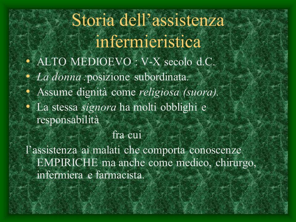 Storia dellassistenza infermieristica ALTO MEDIOEVO : V-X secolo d.C.