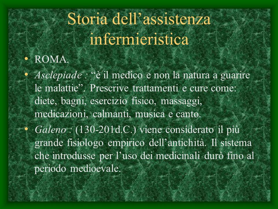 Storia dellassistenza infermieristica ROMA.