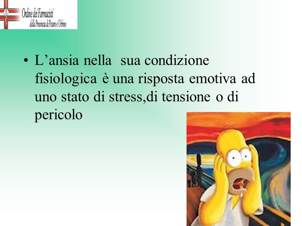 Lansia nella sua condizione fisiologica è una risposta emotiva ad uno stato di stress,di tensione o di pericolo