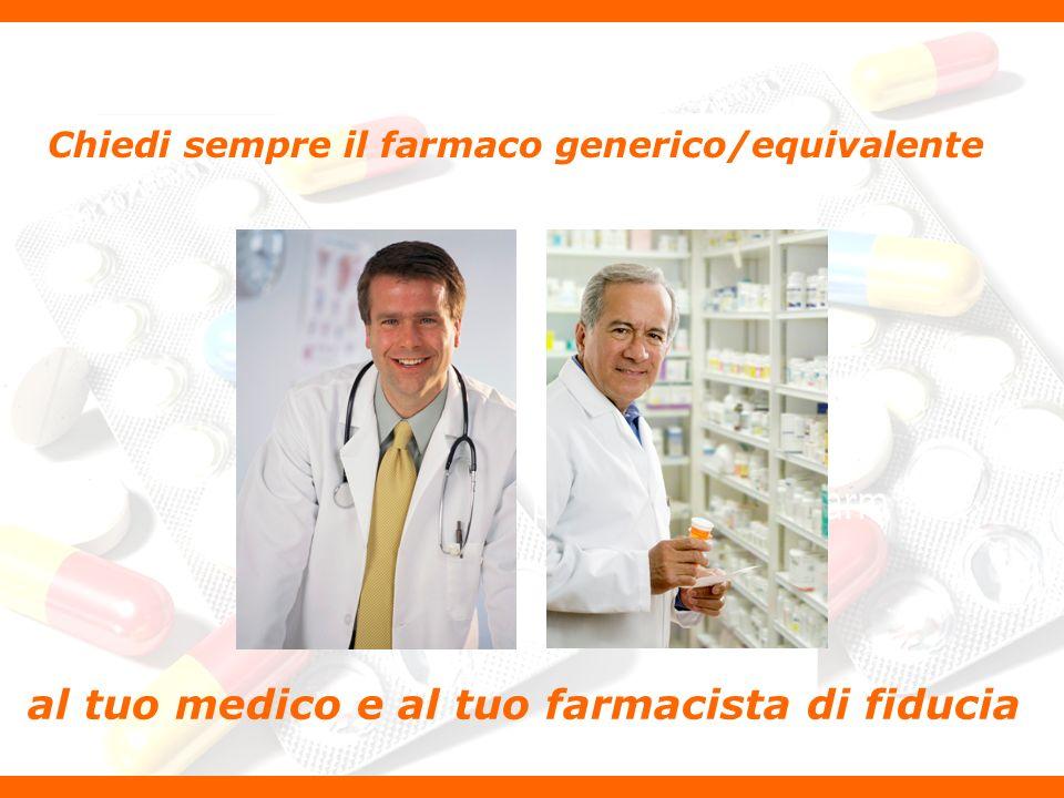 Chiedi sempre il farmaco generico/equivalente al tuo medico e al tuo farmacista di fiducia