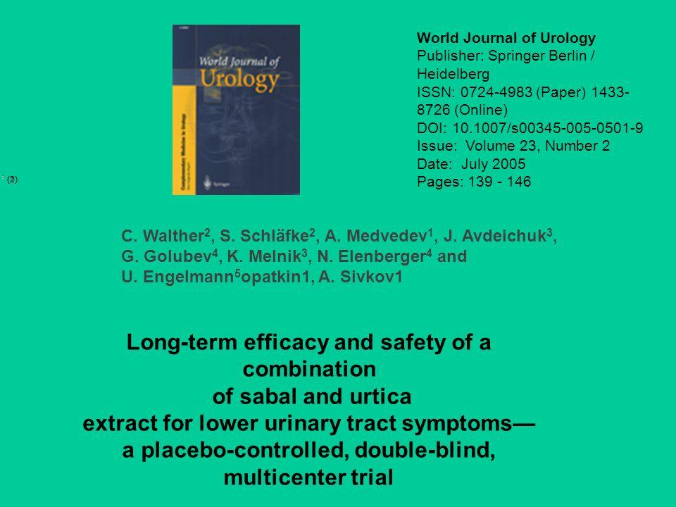 World Journal of Urology Publisher: Springer Berlin / Heidelberg ISSN: 0724-4983 (Paper) 1433- 8726 (Online) DOI: 10.1007/s00345-005-0501-9 Issue: Vol