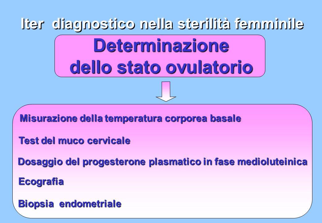 Determinazione dello stato ovulatorio Iter diagnostico nella sterilità femminile Misurazione della temperatura corporea basale Test del muco cervicale