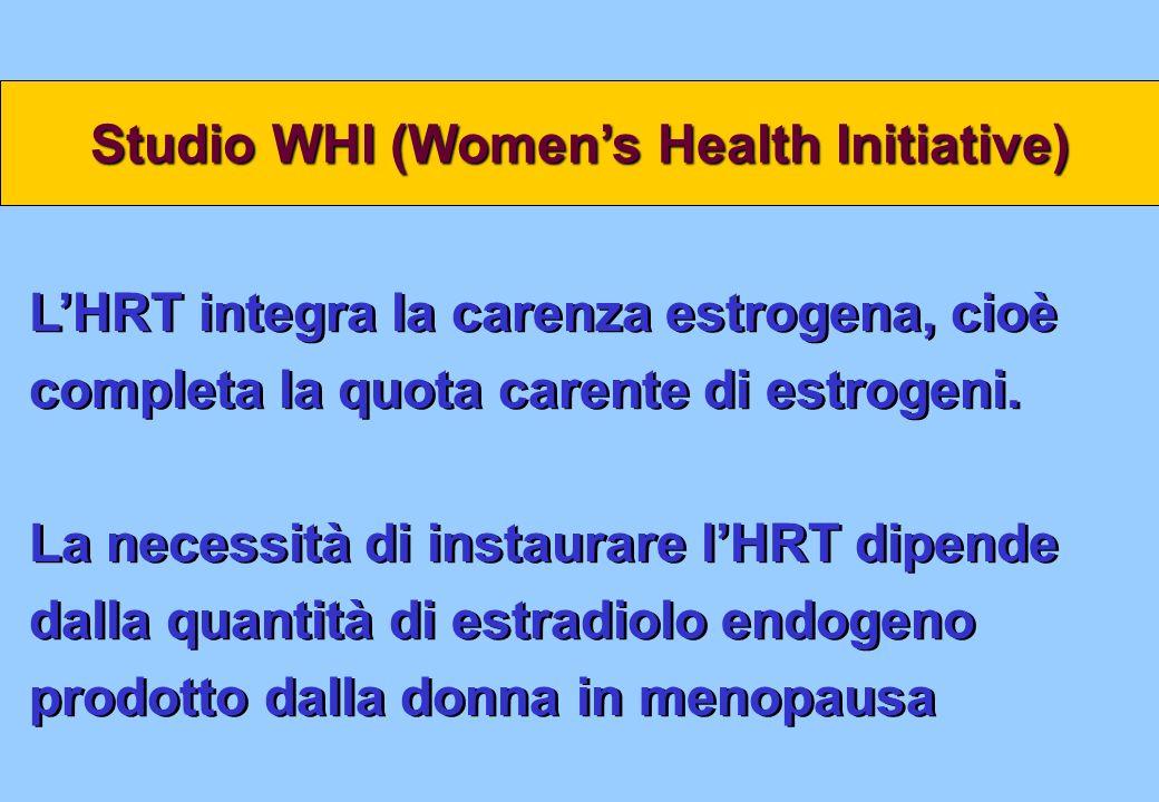 LHRT integra la carenza estrogena, cioè completa la quota carente di estrogeni. La necessità di instaurare lHRT dipende dalla quantità di estradiolo e