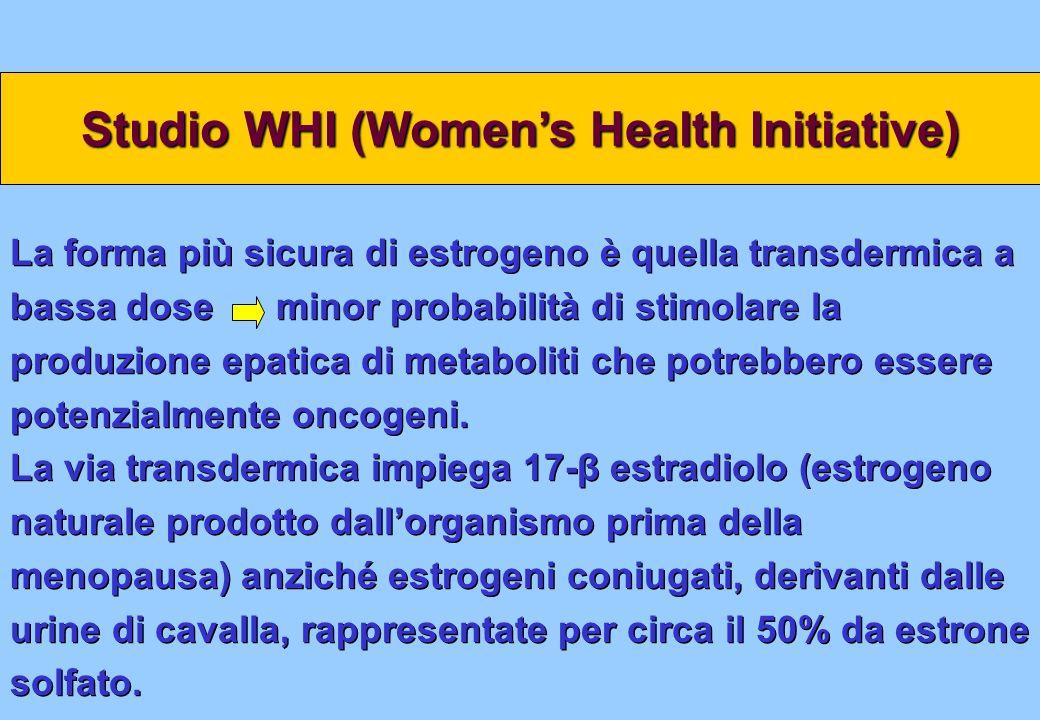 La forma più sicura di estrogeno è quella transdermica a bassa dose minor probabilità di stimolare la produzione epatica di metaboliti che potrebbero