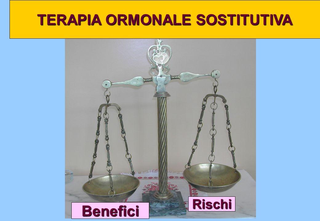 Rischi TERAPIA ORMONALE SOSTITUTIVA Benefici