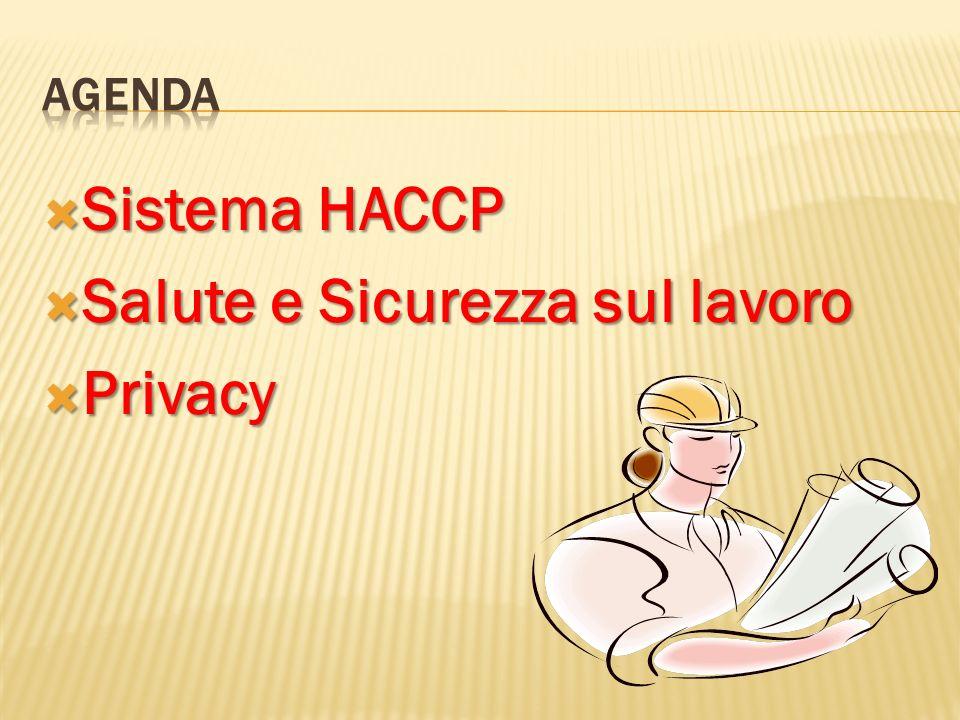 Sistema HACCP Sistema HACCP Salute e Sicurezza sul lavoro Salute e Sicurezza sul lavoro Privacy Privacy