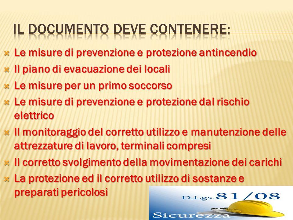 Le misure di prevenzione e protezione antincendio Le misure di prevenzione e protezione antincendio Il piano di evacuazione dei locali Il piano di eva