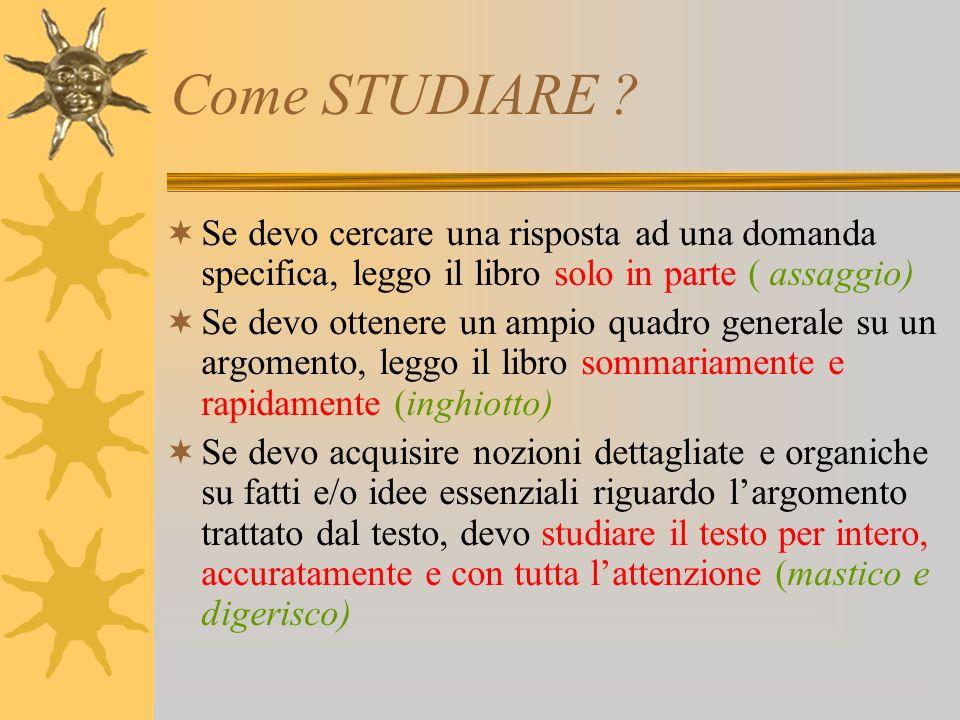 Come STUDIARE .