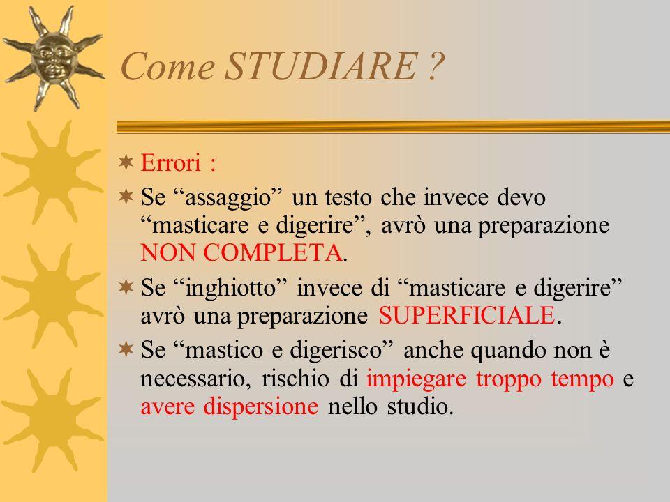 Come STUDIARE .QUINDI : ADOTTARE FLESSIBILITA NELLO STUDIO.