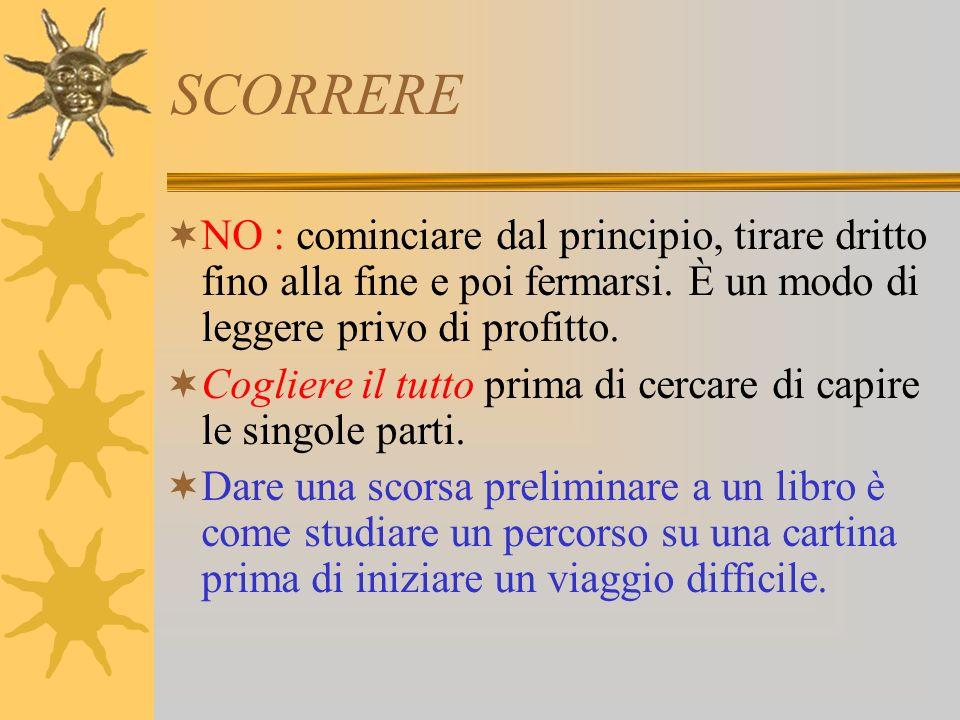 LO SCHEMA Differenza fra schema e sunto : Sunto : il sunto è una versione condensata delloriginale, scritta in prosa consequenziale.