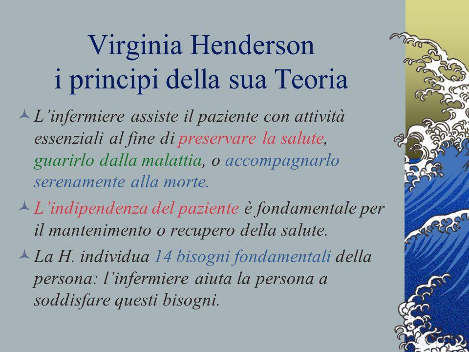Virginia Henderson i principi della sua Teoria La H.