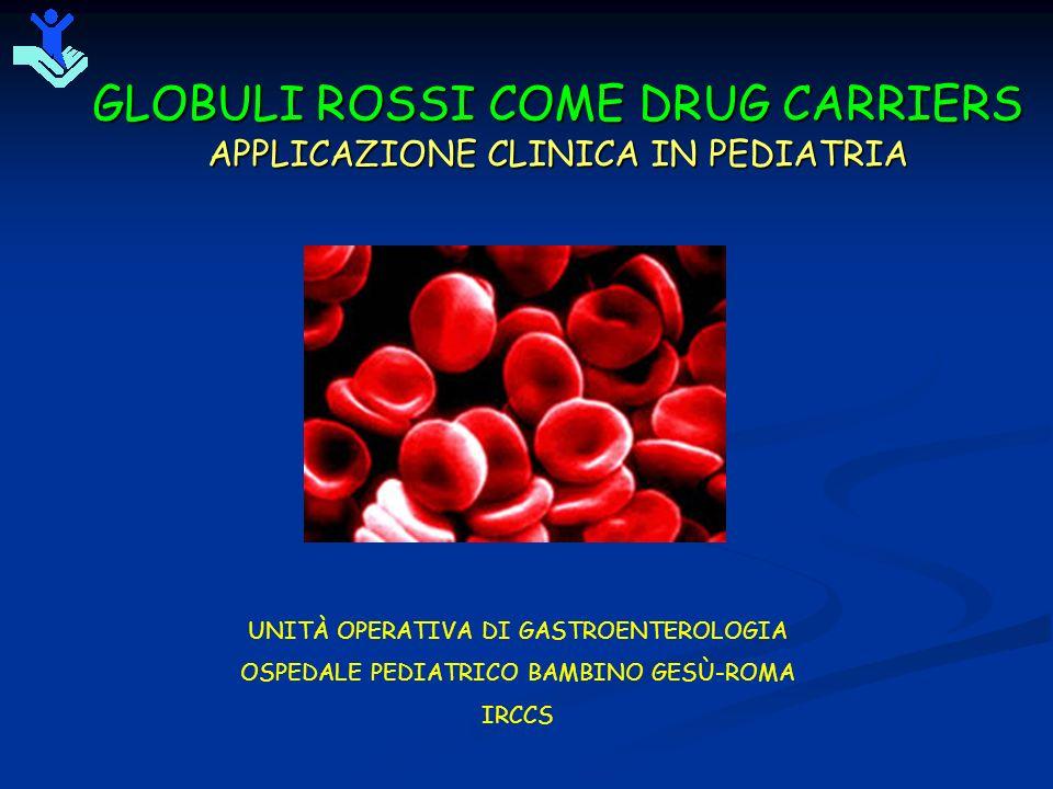GLOBULI ROSSI COME DRUG CARRIERS APPLICAZIONE CLINICA IN PEDIATRIA UNITÀ OPERATIVA DI GASTROENTEROLOGIA OSPEDALE PEDIATRICO BAMBINO GESÙ-ROMA IRCCS