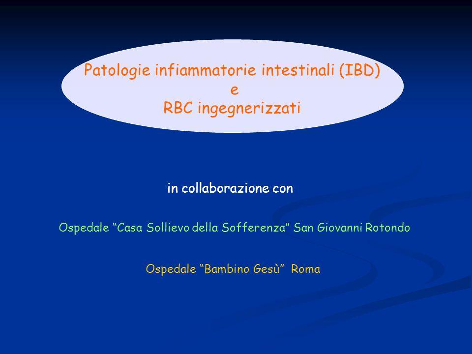 in collaborazione con Patologie infiammatorie intestinali (IBD) e RBC ingegnerizzati Ospedale Bambino Gesù Roma Ospedale Casa Sollievo della Sofferenz