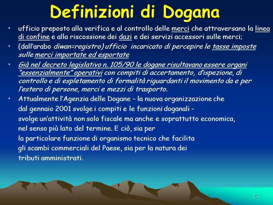 5 Definizioni di Dogana ufficio preposto alla verifica e al controllo delle merci che attraversano la linea di confine e alla riscossione dei dazi e d