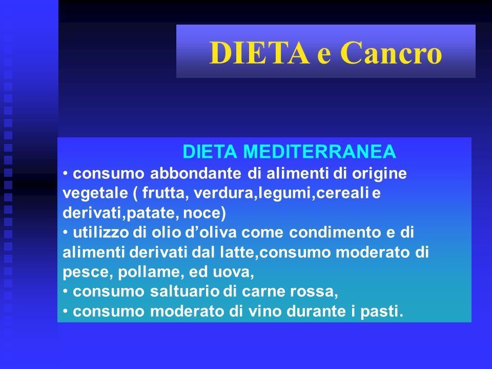 DIETA MEDITERRANEA consumo abbondante di alimenti di origine vegetale ( frutta, verdura,legumi,cereali e derivati,patate, noce) utilizzo di olio doliv