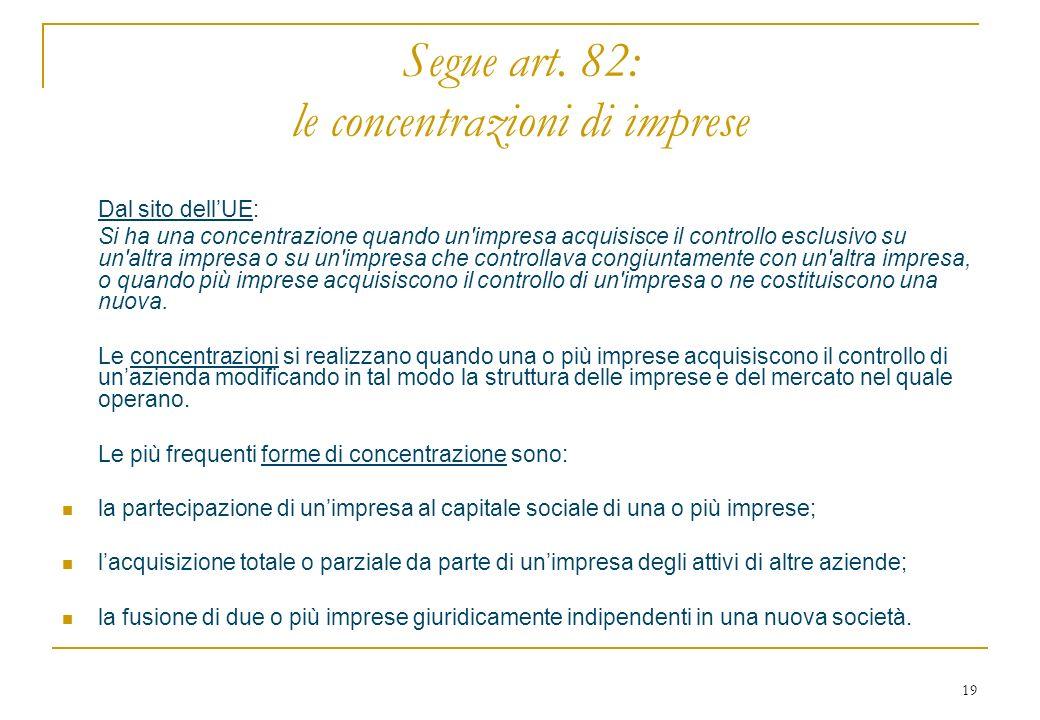 19 Segue art.
