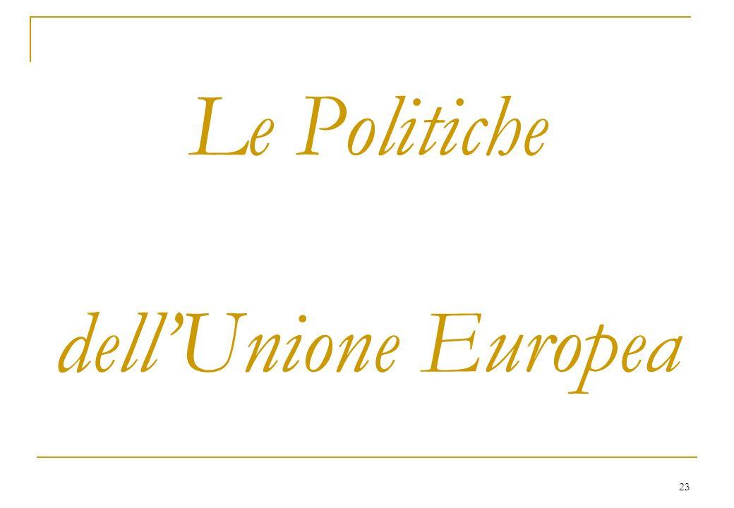 23 Le Politiche dellUnione Europea