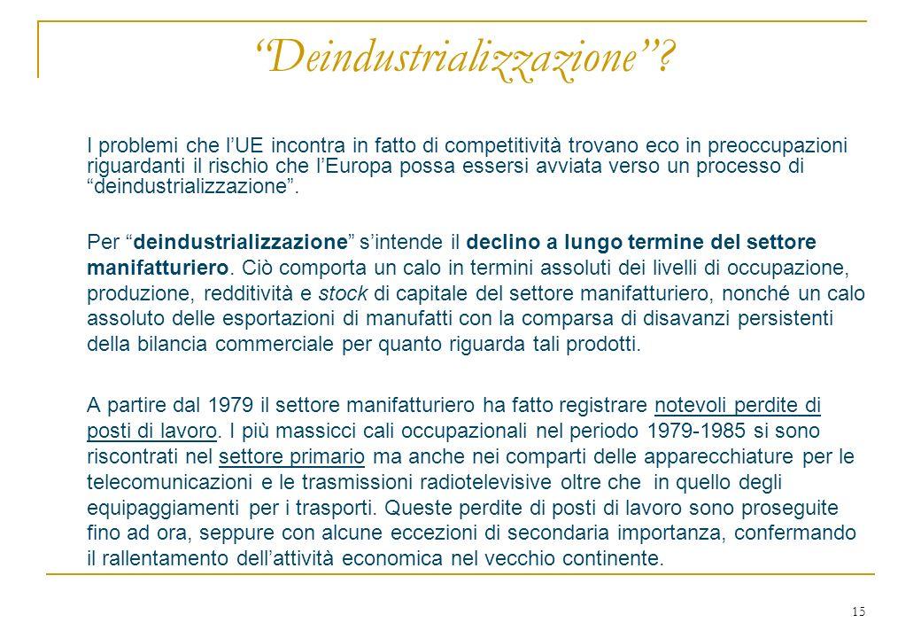 15 Deindustrializzazione.