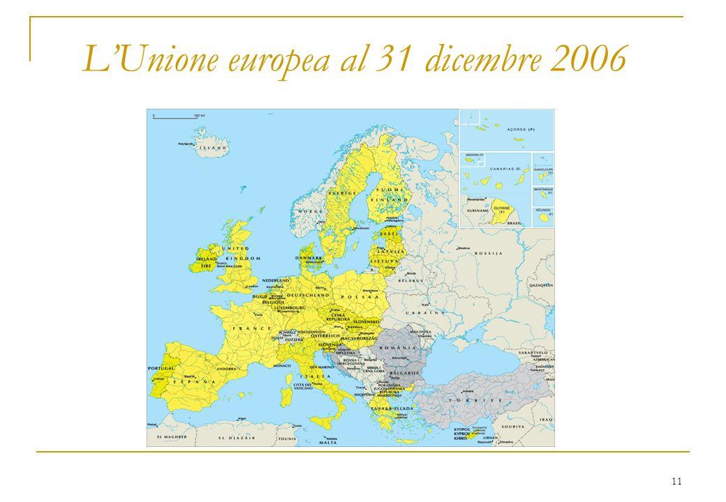 11 LUnione europea al 31 dicembre 2006