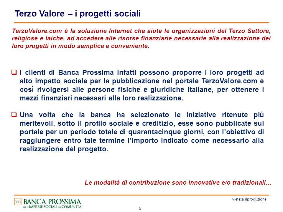 5 Terzo Valore – i progetti sociali.