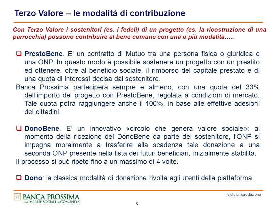 6 Terzo Valore – le modalità di contribuzione PrestoBene.