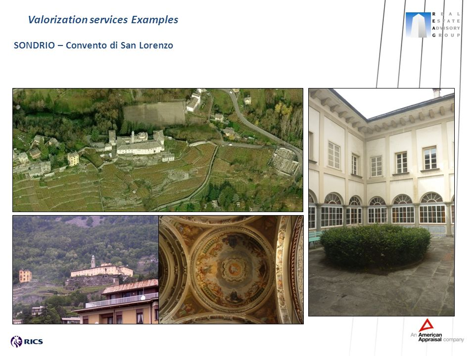 Valorization services Examples SONDRIO – Convento di San Lorenzo