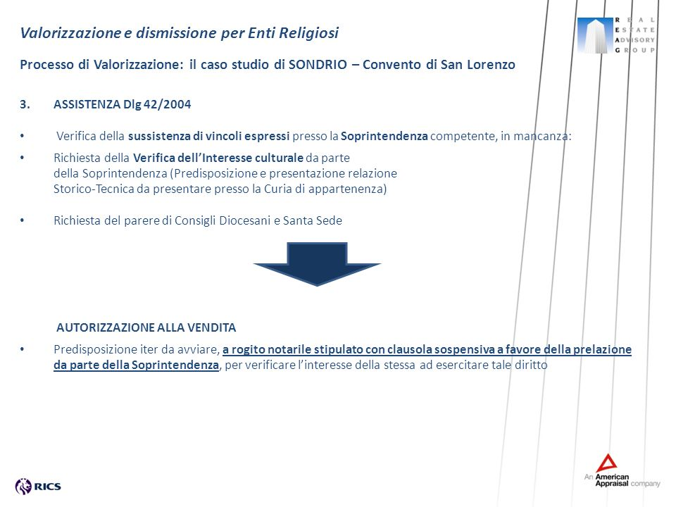 3.ASSISTENZA Dlg 42/2004 Verifica della sussistenza di vincoli espressi presso la Soprintendenza competente, in mancanza: Richiesta della Verifica del