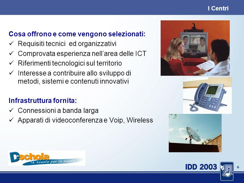 5 In Piemonte: Centri Servizio, Animazione e Sperimentazione 19 Istituti Tecnici Industriali, Commerciali e Professionali (di cui 1 paritario); 6 Istituti di cui 2 comprensivi, 1 circolo, 1 dir.