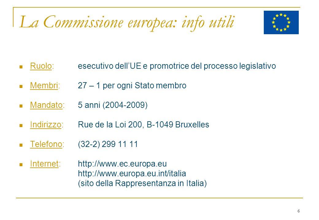 37 Presidente Barroso (P) Mandato: 1-11-2004 / 31-10-2009 Prima commissione della Unione Europea a 25