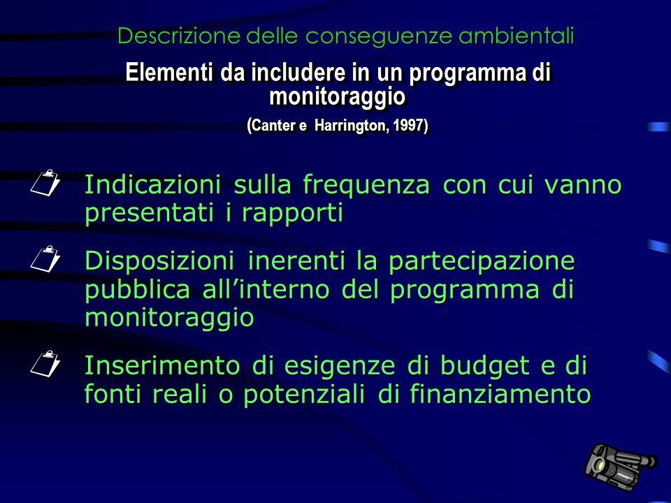 Indicazioni sulla frequenza con cui vanno presentati i rapporti Indicazioni sulla frequenza con cui vanno presentati i rapporti Disposizioni inerenti
