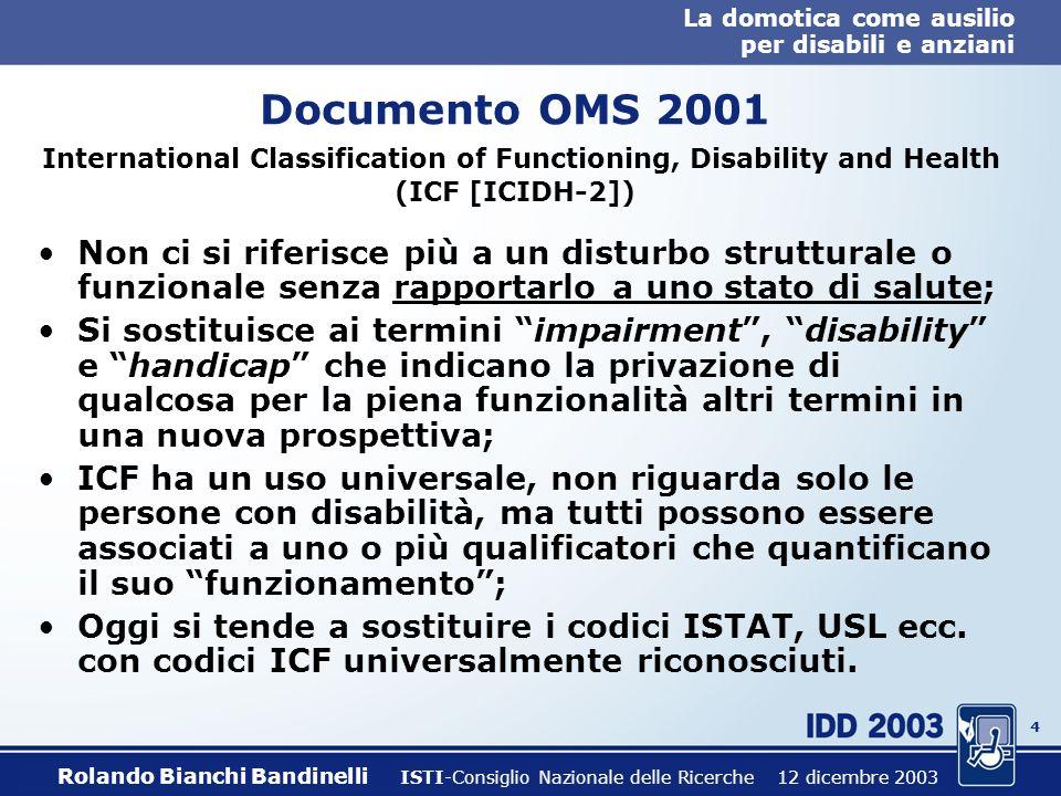 3 La domotica come ausilio per disabili e anziani Cosa si intende per disabilità e handicap.