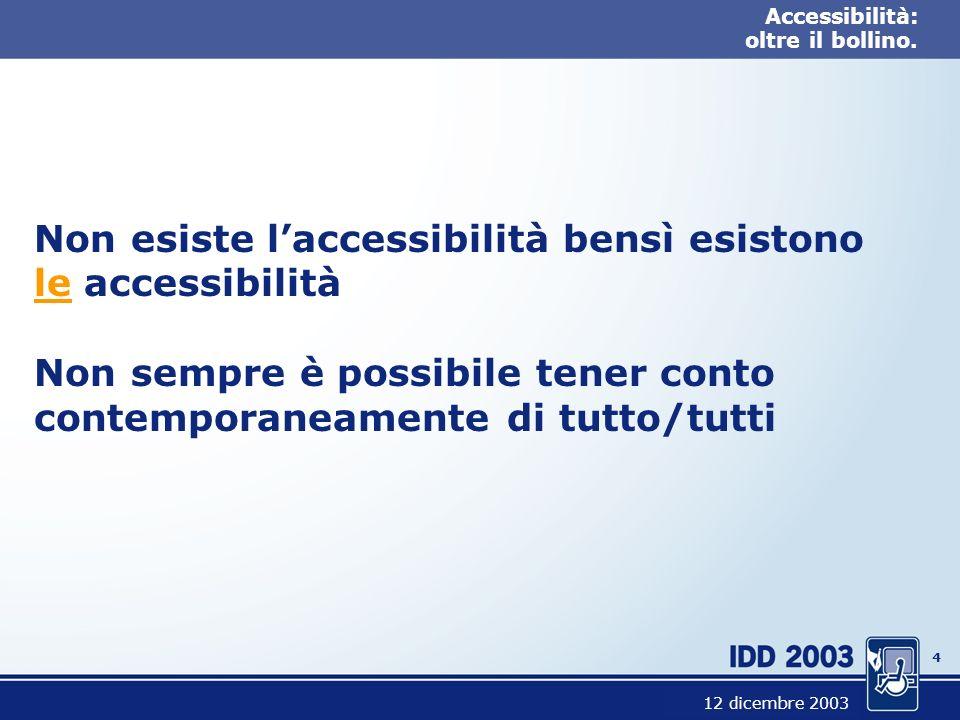 3 Accessibilità: oltre il bollino.