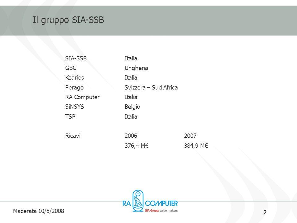 13 Macerata 10/5/2008 SEPA Direct Debit - Caratteristiche e Funzionalità CARATTERISTICHE Gestione Standardizzata degli incassi preautorizzati Tempi di esecuzione regolamentati a livello europeo ed uguali tra tutte le banche Utilizzo - Strumento di incasso rivolto sia ai clienti Business, quanto ai clienti Consumer Nessun limite di importo Gestione di Pagamenti singoli e ricorrenti Possibilità di poter integrare nuove tecnologie (fatt.elettettronica – firma digitale) Tariffazione Shared Gestione di Opzioni specifiche per il trattamento di particolari casistiche sia B2B sia B2C Possibilità di Refound, anche parziale Possibilità di Reversal (Reject o Return) NUOVE FUNZIONALITA Opponibilità alladdebito da 5 giorni a 6 settimane da parte della clientela Opponibilità alladdebito per i 6 mesi successivi da parte della clientela per riconosciuto dolo Inserimento e gestione BIC Nessun limite di Importo Gestione IBAN e codice id.
