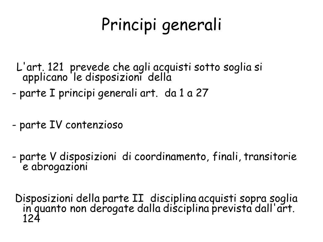 Principi generali L art.