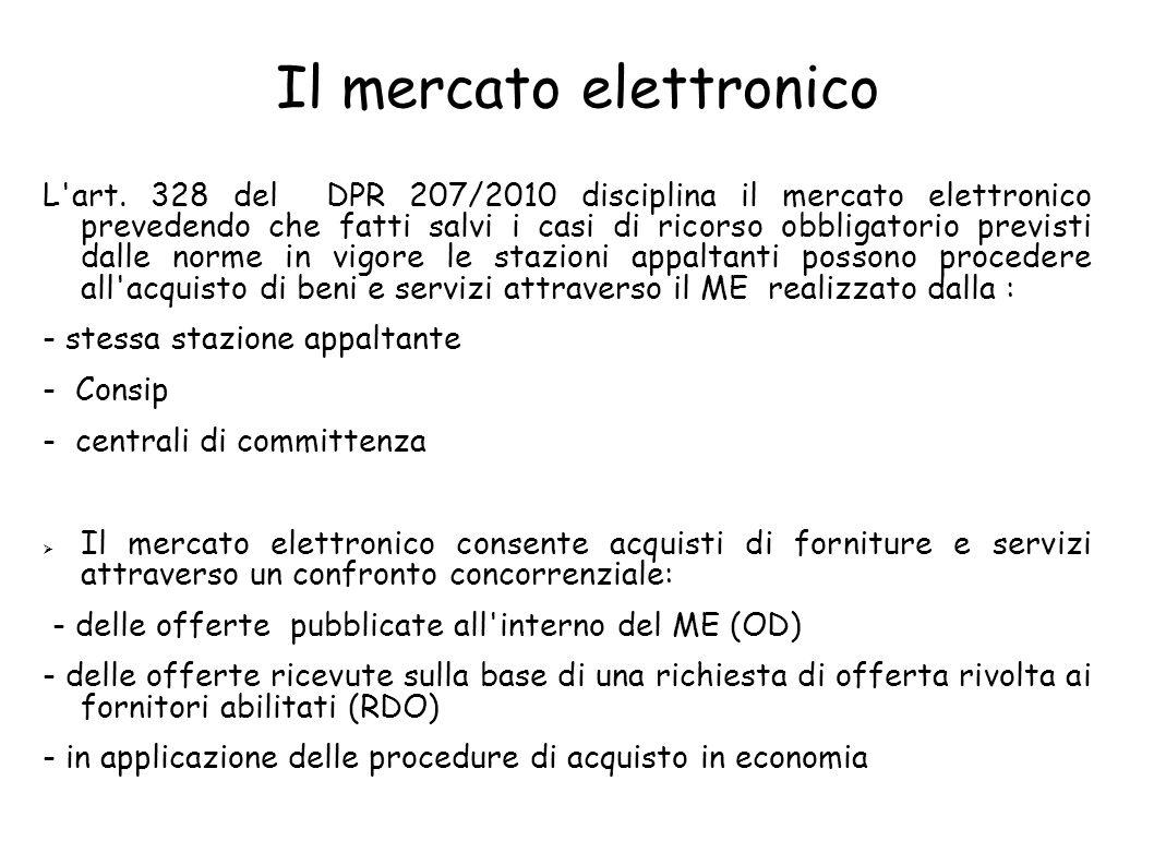 Il mercato elettronico L art.