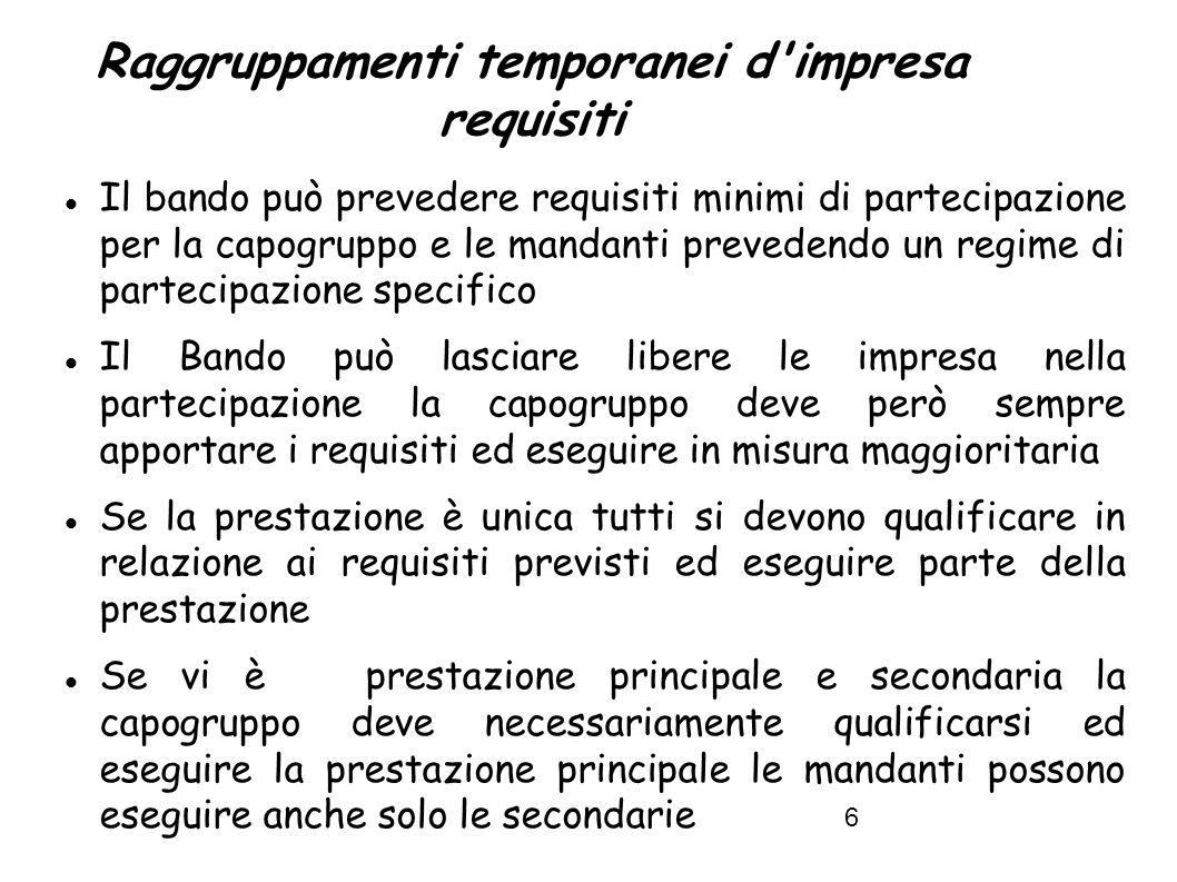 7 Reti d Imprese Le aggregazioni tra imprese aderenti al contratto di rete (art.