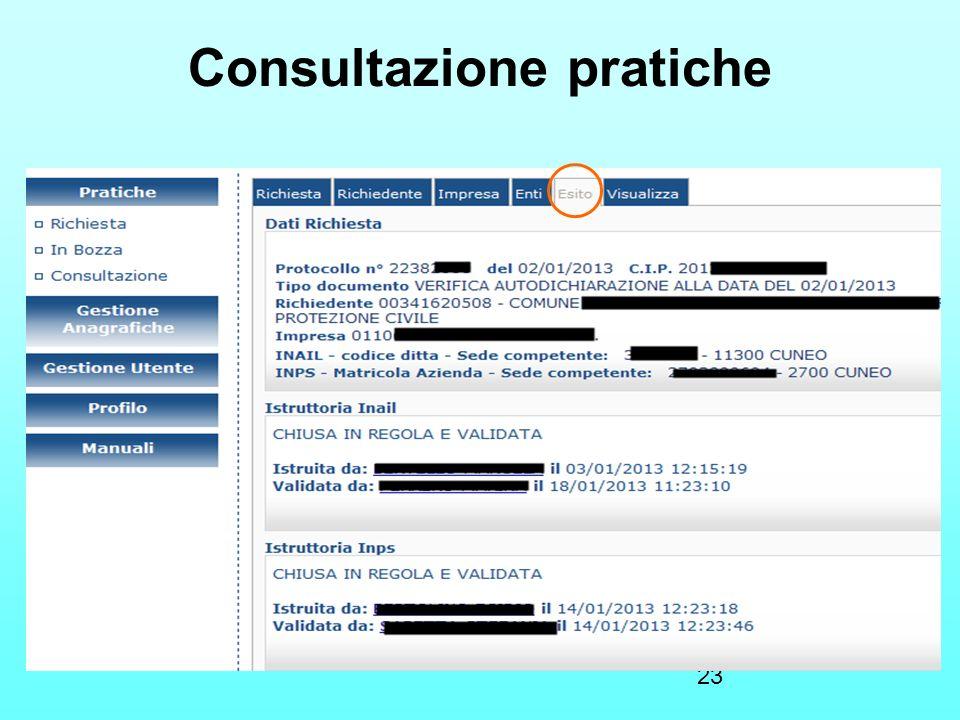 23 Consultazione pratiche