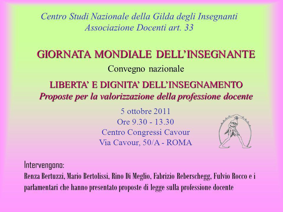 Centro Studi Nazionale della Gilda degli Insegnanti Associazione Docenti art.