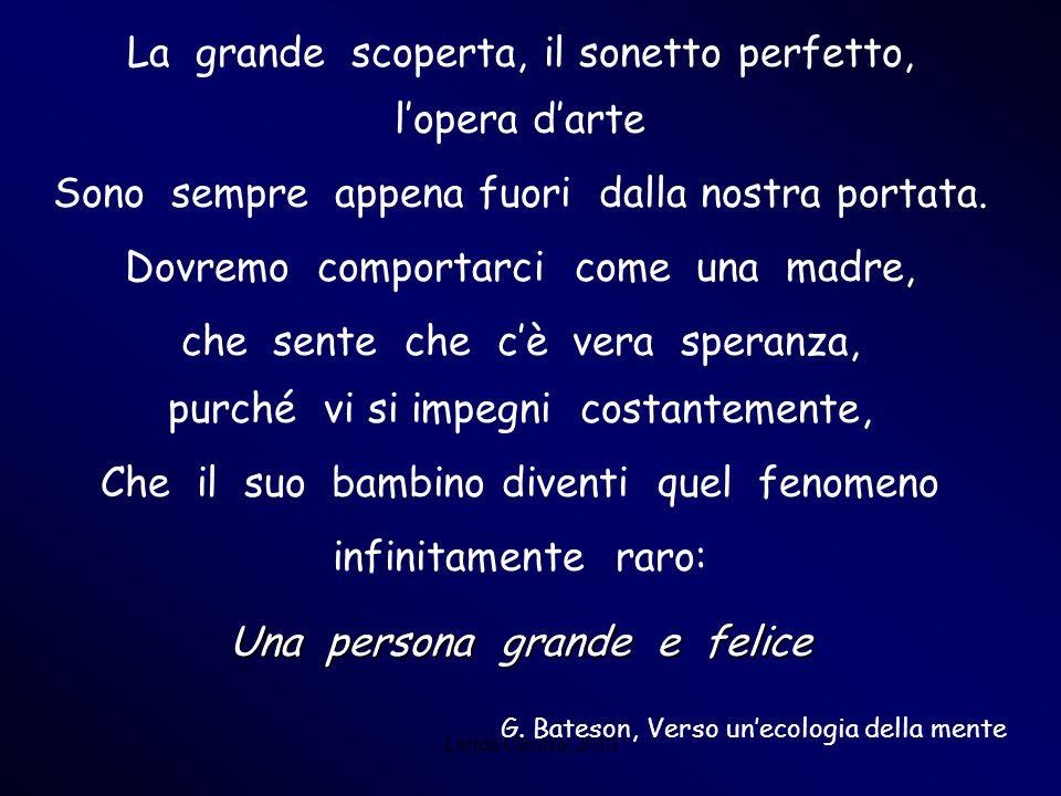 Lerida Cisotto, 2010 La grande scoperta, il sonetto perfetto, lopera darte Sono sempre appena fuori dalla nostra portata. Dovremo comportarci come una