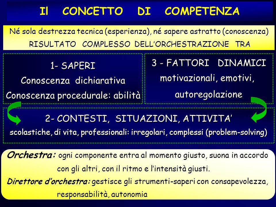 Lerida Cisotto, 2010 3 - FATTORI DINAMICI motivazionali, emotivi, autoregolazione 1- SAPERI Conoscenza dichiarativa Conoscenza procedurale: abilità Né