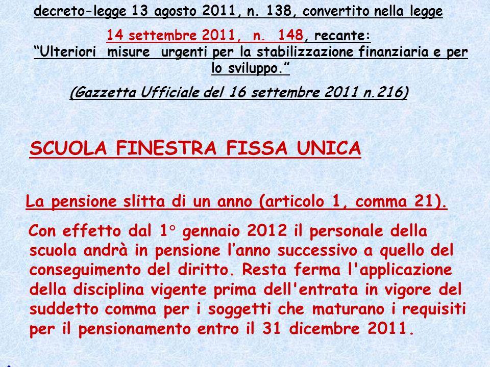 decreto-legge 13 agosto 2011, n.138, coordinato con la legge di conversione 14 settembre 2011, n.