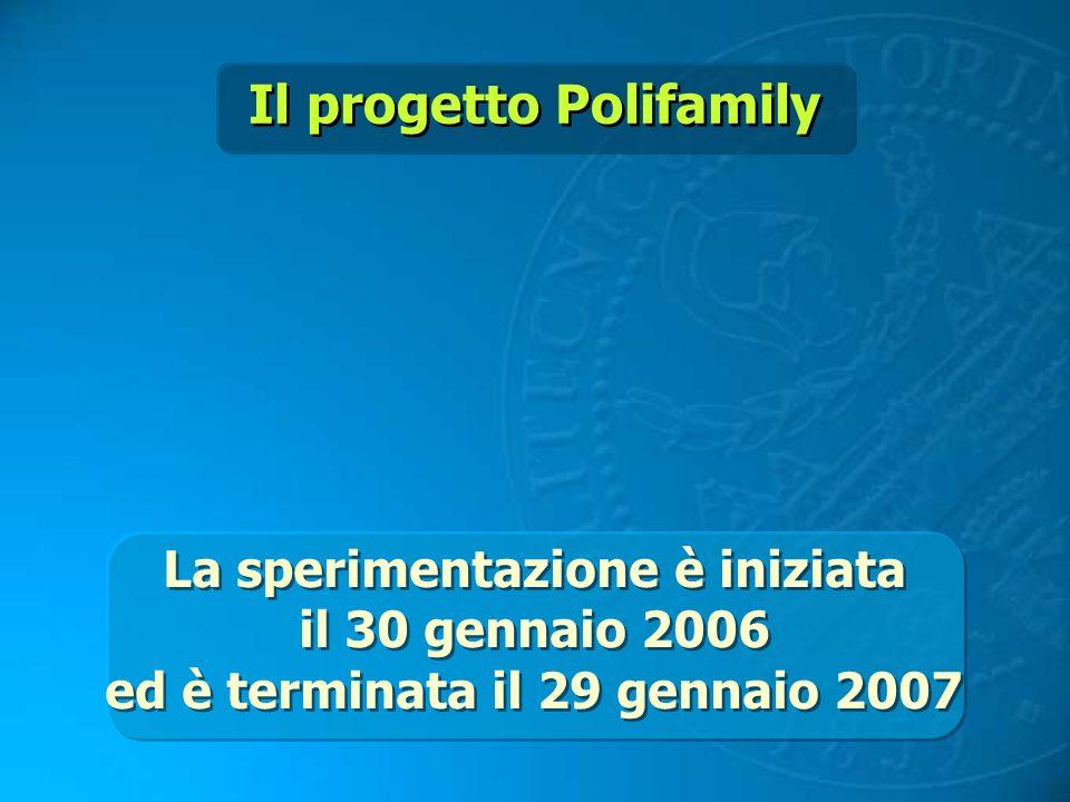 La sperimentazione è iniziata il 30 gennaio 2006 ed è terminata il 29 gennaio 2007 La sperimentazione è iniziata il 30 gennaio 2006 ed è terminata il
