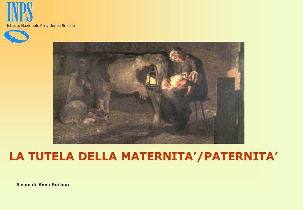 LA TUTELA DELLA MATERNITA/PATERNITA A cura di Anna Suriano