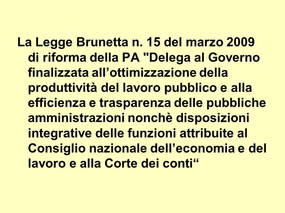 La Legge Brunetta n.