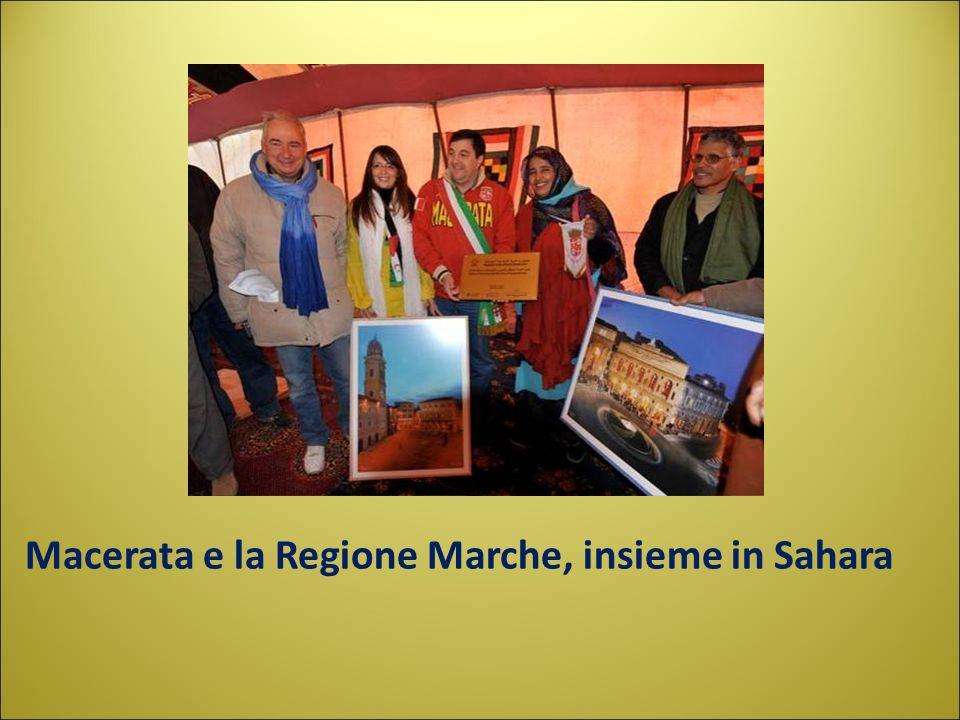 Macerata e la Regione Marche, insieme in Sahara