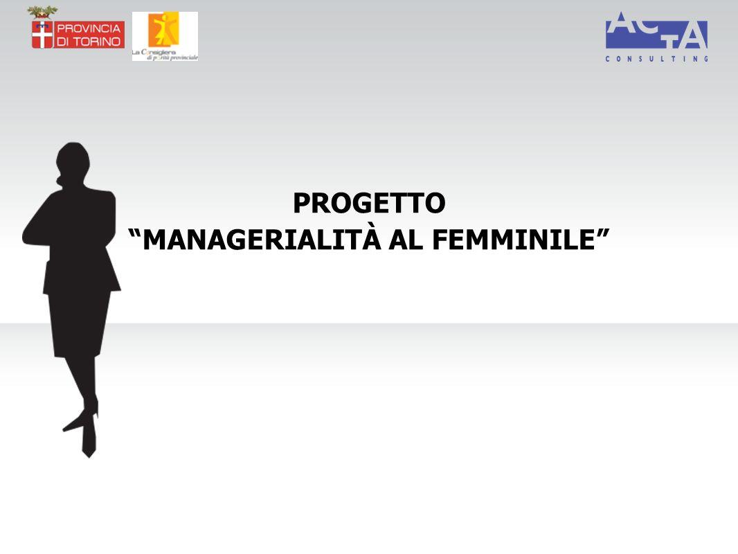PROGETTO MANAGERIALITÀ AL FEMMINILE