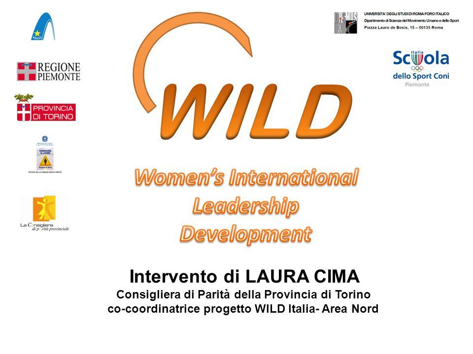 Intervento di LAURA CIMA Consigliera di Parità della Provincia di Torino co-coordinatrice progetto WILD Italia- Area Nord