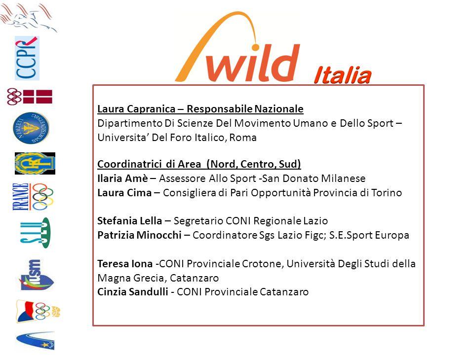 Laura Capranica – Responsabile Nazionale Dipartimento Di Scienze Del Movimento Umano e Dello Sport – Universita Del Foro Italico, Roma Coordinatrici d
