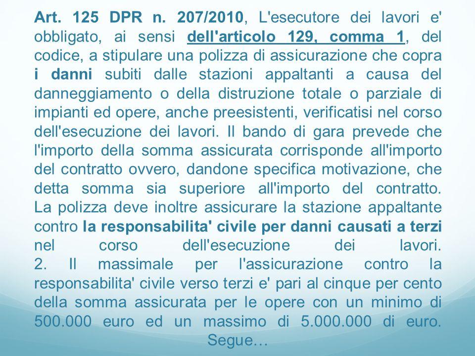 Art.125 DPR n.